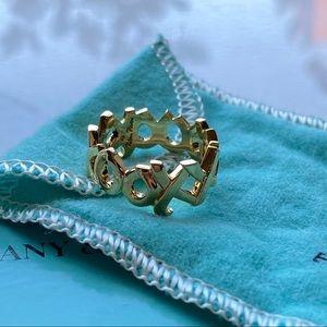 🛍 Tiffany & Co. 18kt Gold Paloma Picasso XO Ring